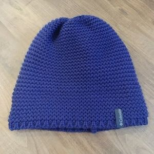 COLUMBIA Blue Sweater Knit Winter Hat Beanie O/S